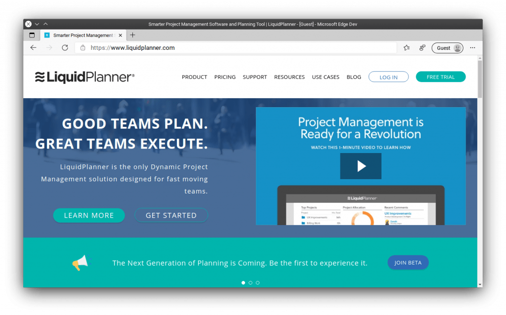 LiquidPlanner - Excellent tool for project management