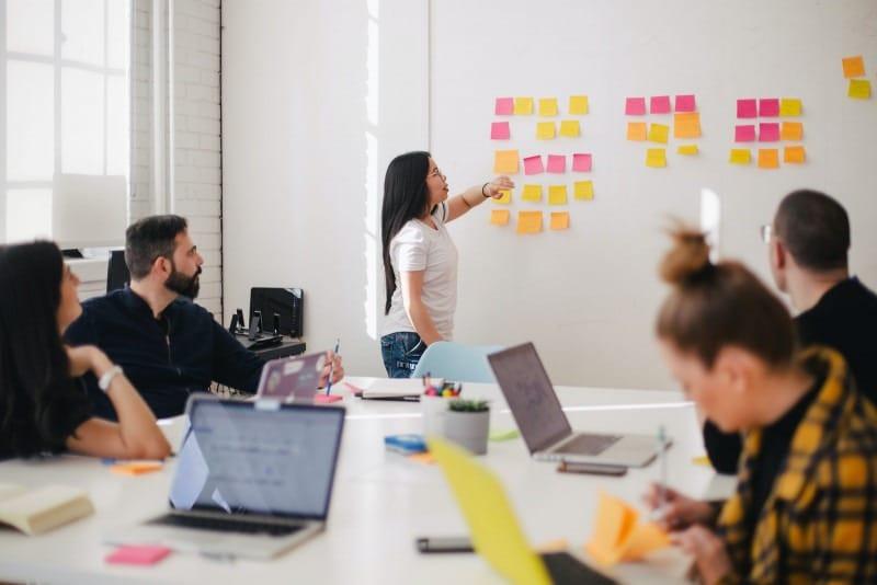 Réunion de planification de l'équipe Agile
