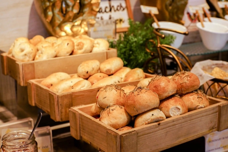 Bakery with freshly baked breads